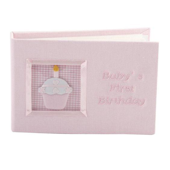 Baby's First Birthday photo album (pink)