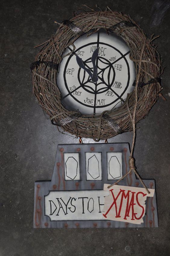 Nightmare Before Christmas Countdown Clock Halloween