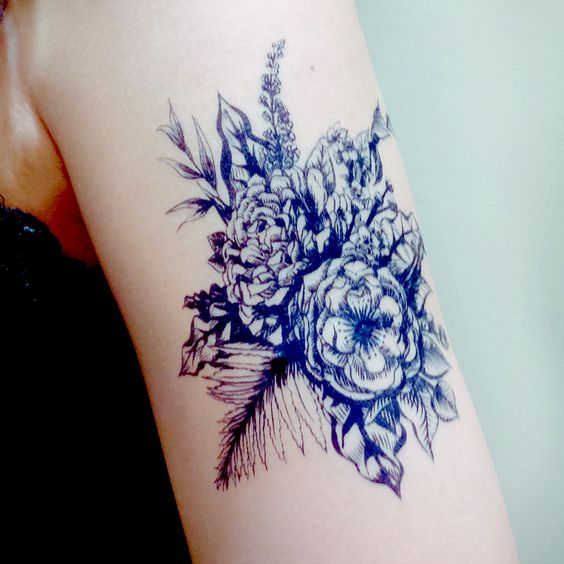 50 Flower Tattoos For Men - A Bloom Of Manly Design Ideas |Ocean Flowers Tattoos
