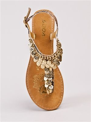 Soda DEROSA Coin T-Strap Sandal - $27.90    Looks like another pair of sandals I've been wanting for ages!