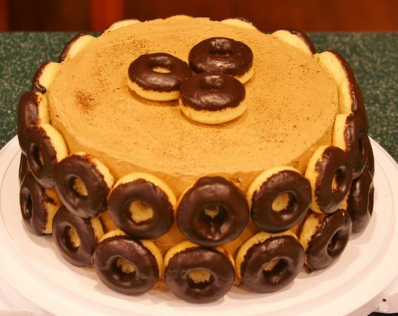 Coffee and Donuts Cake | Cakes | Pinterest | Doughnut Cake, Donut ...