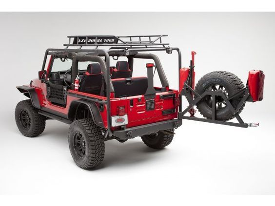 Armor Formed Rear Bumper & Tire Carrier | Jeep Parts and ...