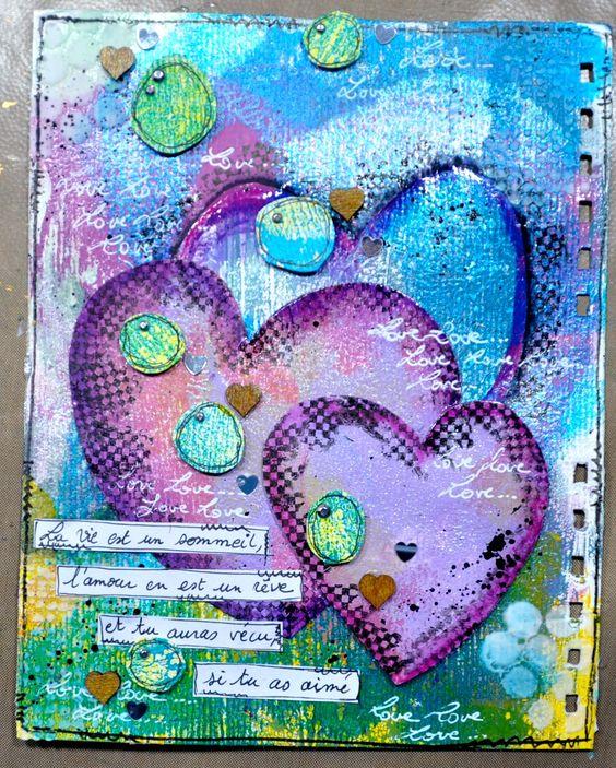 """Semaine 7 sujet: """"Fêtons l'amour"""" par http://hellofannyscrap.com/"""
