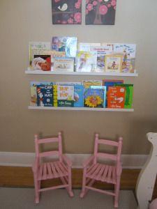 bookshelves using ikea picture ledges