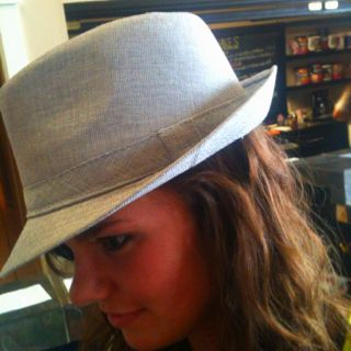 Grey fedora. $22. Elements boutique Grenada, MS 662.294.8882