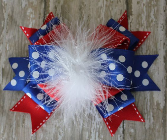Memorial Day or 4th of July Hair Bow