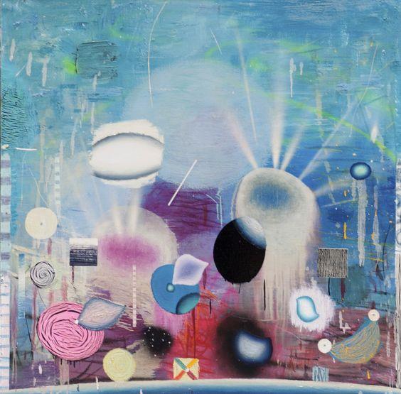 Matías Krahn. Sueño en el sueño. Óleo sobre tela,130x130 cm, 2012.