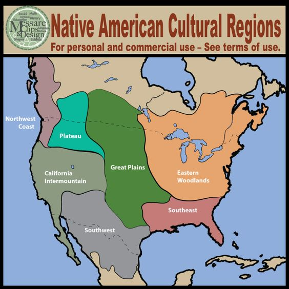 maps north america native american cultural regions messare clips and design other the o. Black Bedroom Furniture Sets. Home Design Ideas