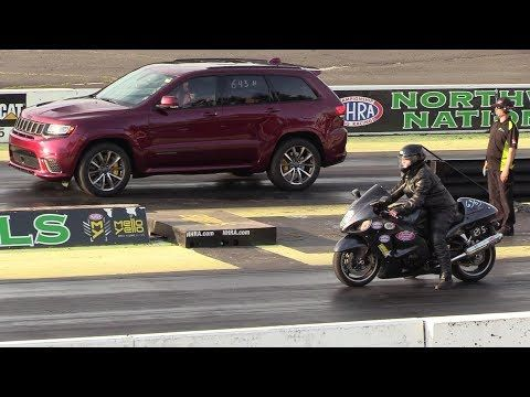 Jeep Trackhawk Vs Hayabusa Drag Race Youtube