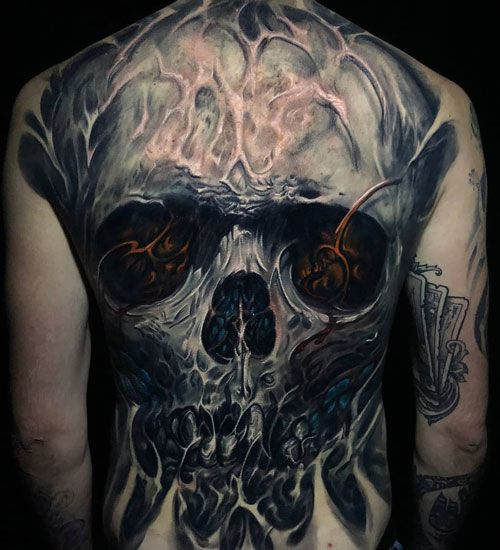 125 Best Back Tattoos For Men Cool Ideas Designs 2020 Guide Back Tattoos For Guys Scary Tattoos Cool Back Tattoos