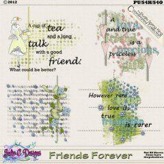 Friends Forever Wordart