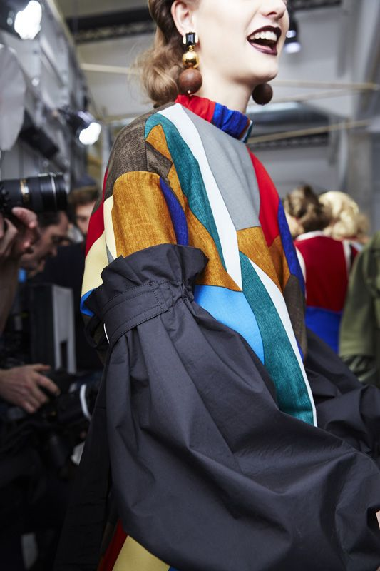 Retro Beauties Backstage at Marni Fall 2016 -: