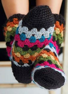 Free Crochet Pattern Toeless Socks : Crochet granny, Sock and Warm on Pinterest