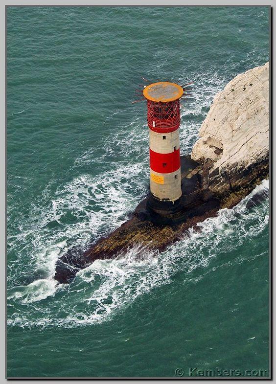 The Needles Lighthouse The Needles Alum Bay Isle of Wight England 50.662697, -1.589327