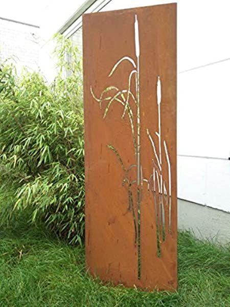 Amazon De Zen Man Garten Sichtschutz Aus Metall Rost Gartenzaun Gartendeko Edelrost Sichtschutzwand 150 50cm 101549 Outdoor Structures Boundry Wall Outdoor