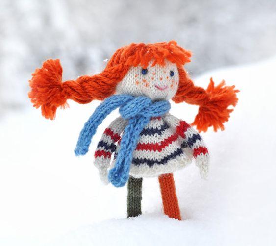 PDF patron de tejer  muñeca Pippi Calzaslargas  por elvesworld
