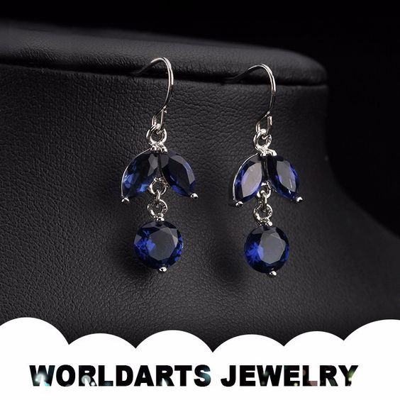 Hot Sale Aolly Latest New Design Color Zircon Cheap Drop Earrings, View drop earrings, Worldarts jewelry Product Details from Dongguan Worldarts Jewellery Manufactory on Alibaba.com