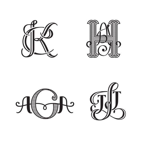 Invitations, Ink, Social Design Studio: Hand-drawn monogram