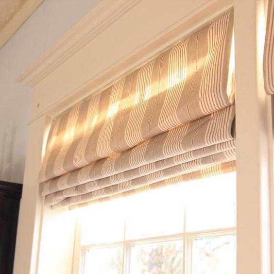 Persianas romanas las cortinas romanas son los estores for Ventanas con persianas incorporadas
