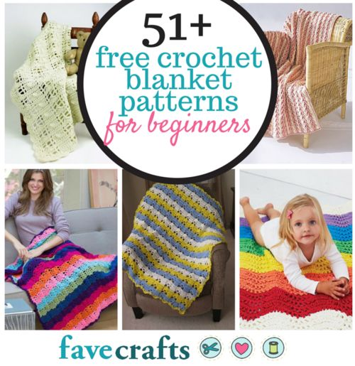 51 Free Crochet Blanket Patterns for Beginners | Crochet gratis ...