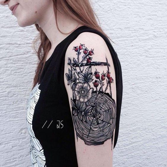 Tattoo art by Jessica Svartvit #tattoos https://t.co/6tlcvoCAQT Please Re-Pin It!