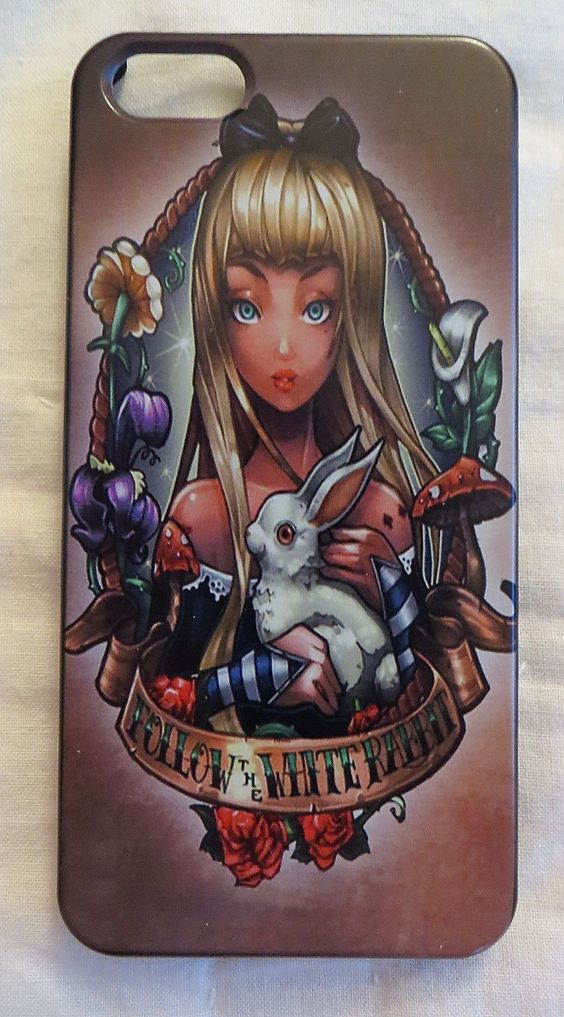 TATTOO ALICE IN WONDERLAND FITS IPHONE 5 PHONE SKIN SHELL CASE COVER NEW