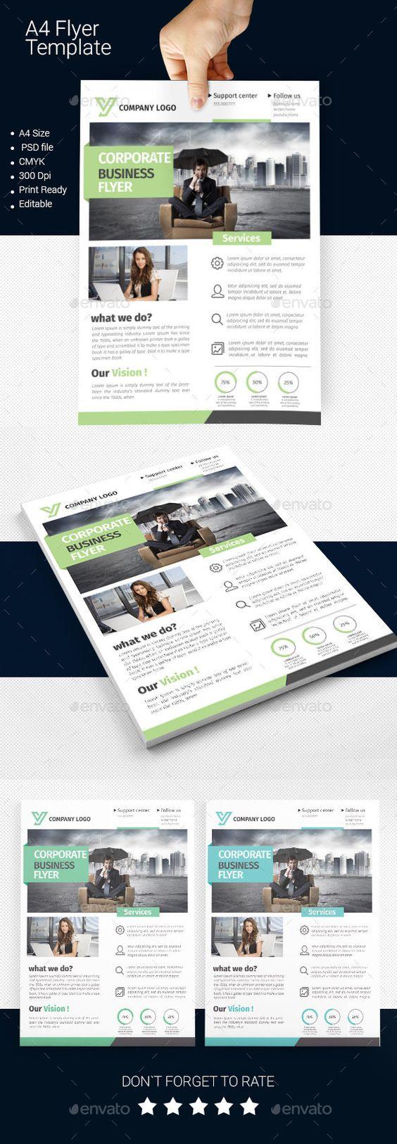 a business flyer template flyer template business flyer a4 business flyer template design graphicriver net
