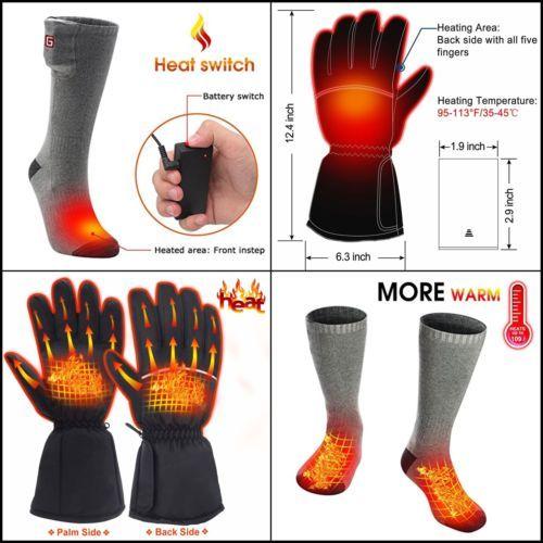Pack Of Electric Heated Gloves Socks Heated Gloves Heated Socks Hand Warmers