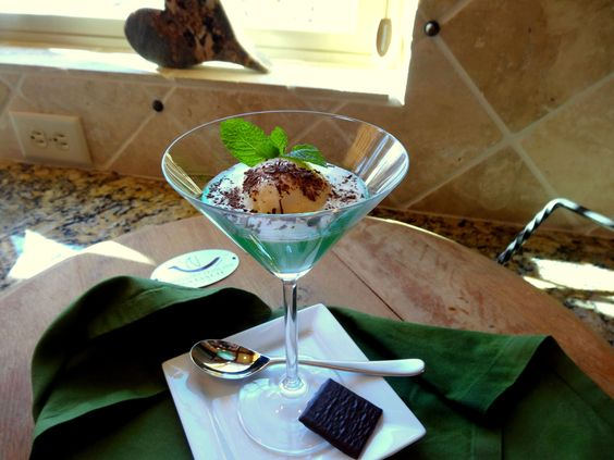 Creme De Menthe Parfait | culinary:Homemade Creme de Menthe Parfait OC