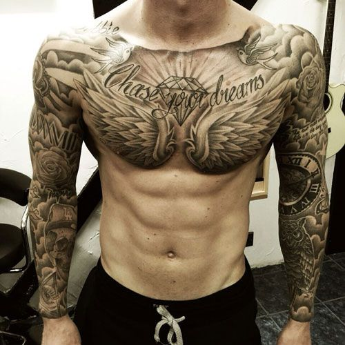 101 Badass Tattoos For Men Cool Designs Ideas 2020 Guide Chest Tattoo Men Cool Chest Tattoos Tattoos For Guys Badass