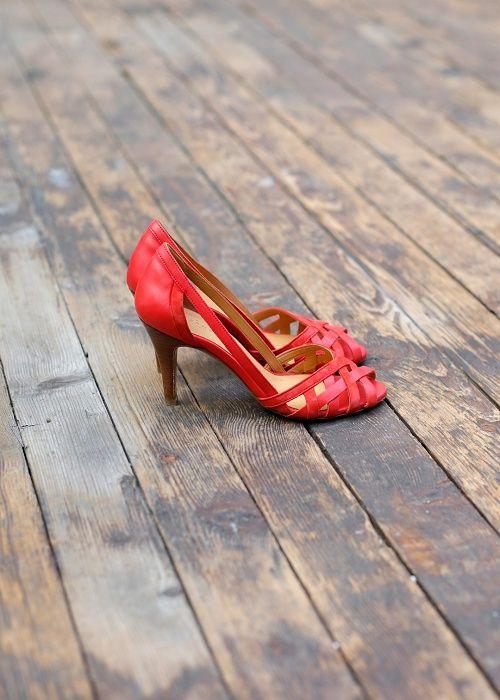 Sandales rouges - Sézane - Pré-collection Printemps Eté