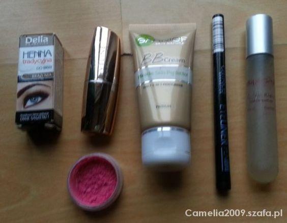 Zestaw kosmetyków 2  #hennadobrwi #krembbgarnier #ciendopowiekmarykay #perfumetkacalvinkleineuphor #eyelinercatrice #pomadkadousteveline