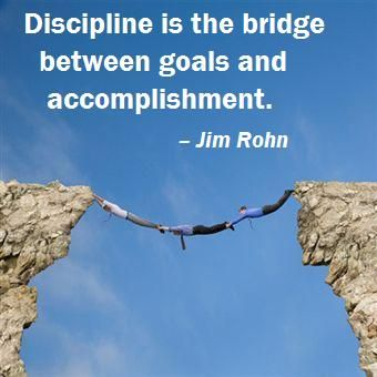 Isn't this the truth...Discipline is the core to accomplishment not just in your professional life, but personal life. In internet marketing also, it is extreme important to be disciplined.