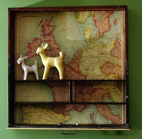 Upcycle an old drawer into a shelf!
