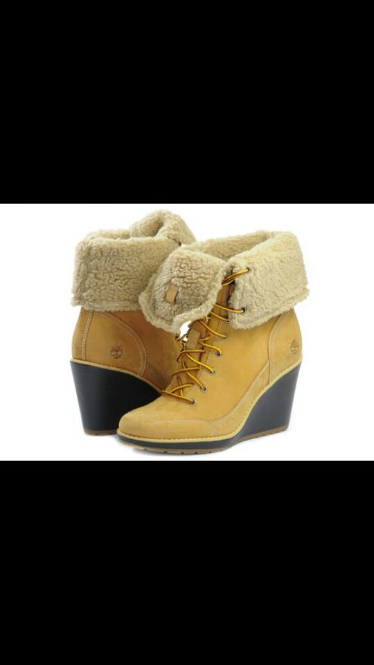 Timberland Womens Earthkeepers Meriden Ankle Wedge Heel Fold-Down Boots