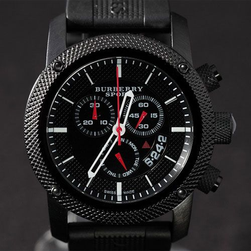 • the world s catalog of ideas original burberry sport athlete style mens chrono black watch rnbjewellery