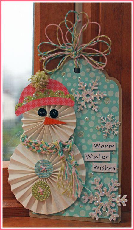 Love this little snowman: Card Idea, Paper Craft, Snowman Card, Papercraft, Christmas Tag, Christmas Card