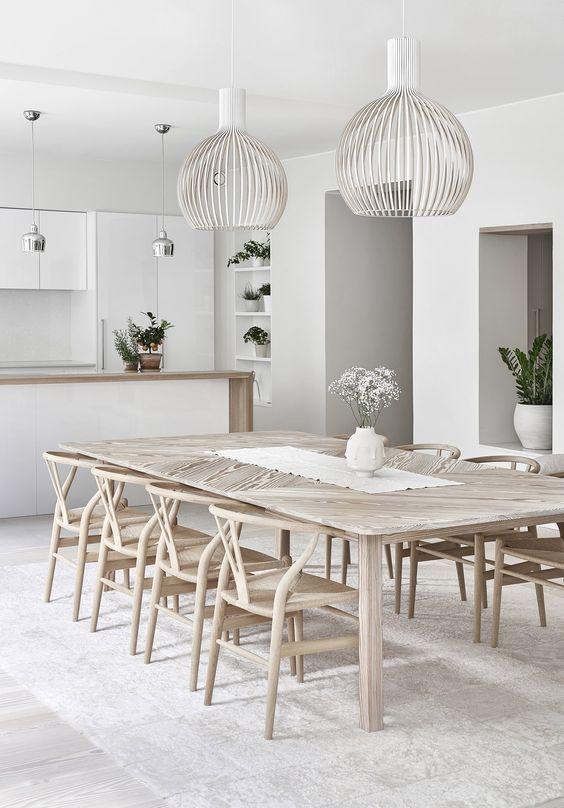 52 Amazing Modern Rustic Dining Room Design Ideas Skandinavisk