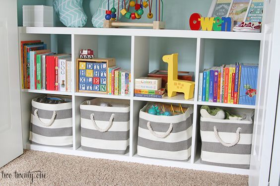 Stripes Around the Cube bins from The Land of Nod (but not just for kids!)