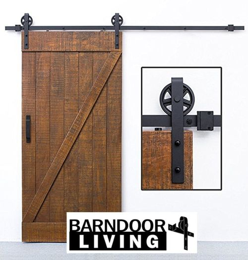 6 Jumbo Wheel Kit Powdercoated Black Barn Door Barn Hardware Sliding Door Hardware