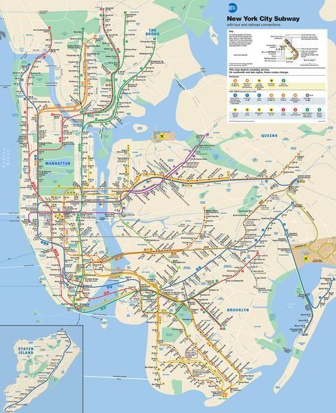 Subway Fahren Einfach Gemacht In 2020 Zug Karte Karte Von New