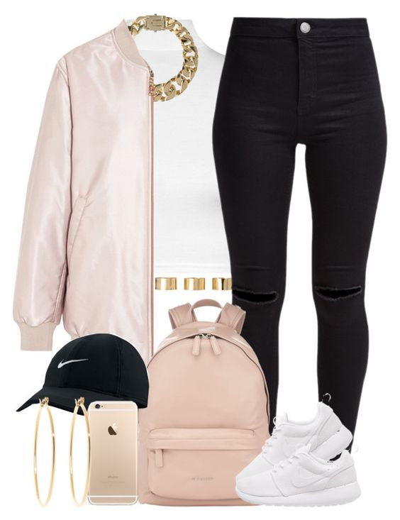 """""""Pale vs Dark ✨"""" by livelifefreelyy ❤ liked on Polyvore featuring moda, WearAll, AllSaints, Acne Studios, ASOS, New Look, Givenchy, NIKE ve Brooks Brothers"""