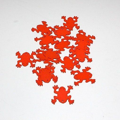 Orange frøer – 16 stk