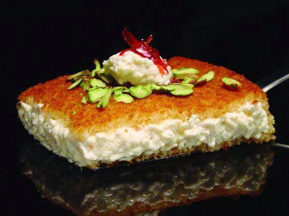 Knafeh w eshta lebanese and syrian recipes pinterest for Anoush middle eastern cuisine