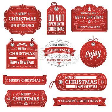 Christmas Labels Royalty Free Stock Vector Art Illustration