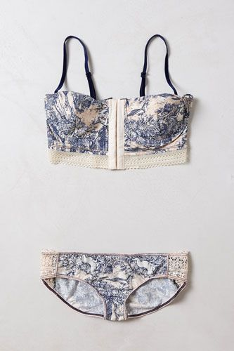 Maaji Woodlands Reverie Bra, $38, available at Anthropologie; Maaji Woodlands Reverie Hipster, $29, available at Anthropologie.