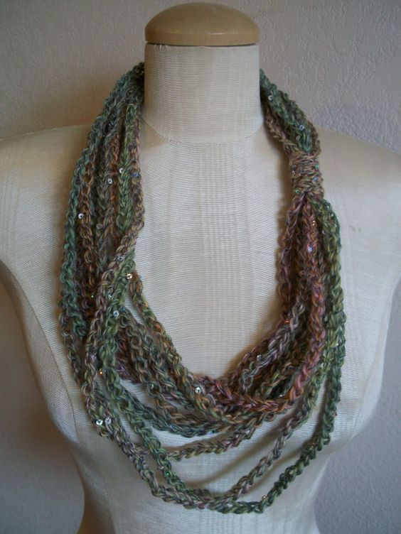 soft and sparkly sequinned chain loop by LittleDillyDesigns