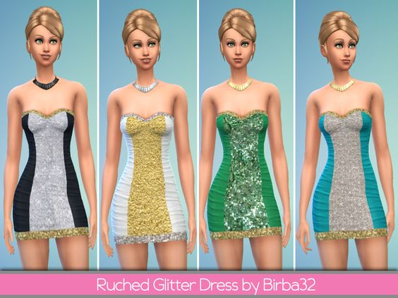Birba32's Ruched glitter dress