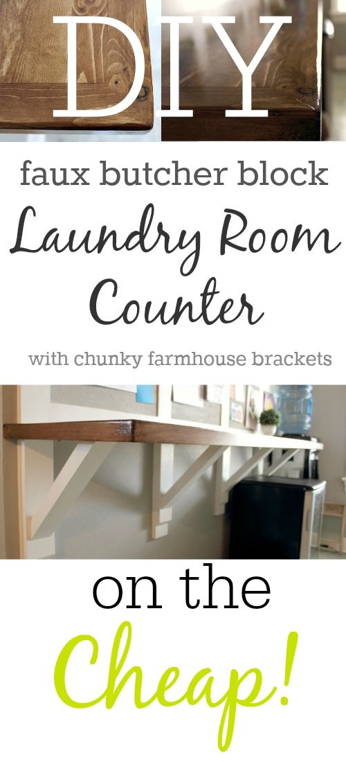 Diy Faux Butcher Block Laundry Room Counter Butcher Blocks Laundry Rooms And Cork Boards