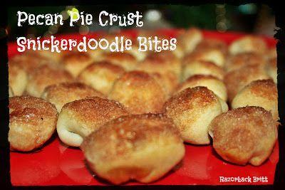 Pecan Pie Crust Snickerdoodle Bites